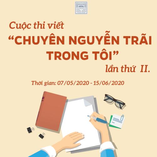 """Cuộc thi """"Chuyên Nguyễn Trãi trong Tôi"""" lần 2"""